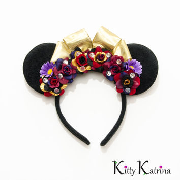 Evil Queen Mouse Ears Inspired Headband, Disney Ears, Evil Queen Crown, Evil Queen Costume, Snow White Birthday Party, Disney Headband