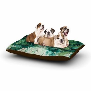 "Ebi Emporium ""Beauty In The Rain, Green"" Emerald Green Dog Bed"