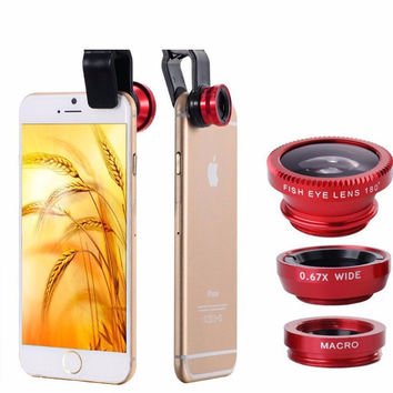 Phones Accessories Mobile Phone Cases Fisheye Lens for Iphone 4 5s 6 6s 7 Plus Samsung Galaxy A5 J5 Huawei P8 P9 Lite Back Cover