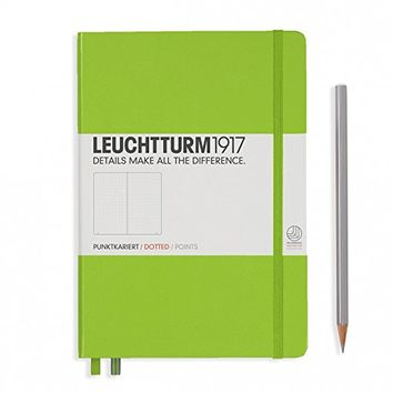 "Leuchtturm 1917 Hard Cover Medium 5.8"" x 8.3"" (A5) Journal, Lime Green, Dotted/Points"