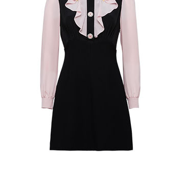 Cady Dress with Detailing on Collar