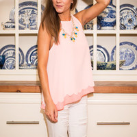 Sway It Sweetly Tank, Neon Pink