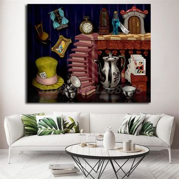 Things From Wonderland Alice In Wonderland HD Canvas Painting Print Living Room Home Decor Modern Wall Art Oil Painting Poster