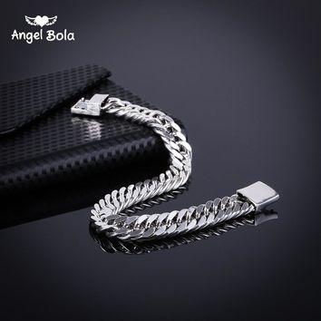 Bicycle Chain Wristband Fashion New Link Chain Ancient Silver Bracelet Women Heavy 9MM Wide Mens Buddha Bangles B1019-5