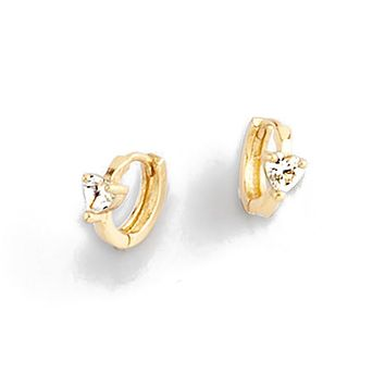 Small hoop earring plated in 18 kt gold with Diamonice