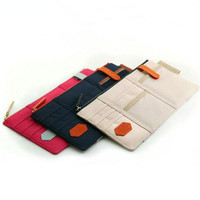 Multi-purpose Auto Car Visor Organizer Canvas Sun Visor Storage Pouch Bag for Card Cell Phone Pen Sunglasses Holder
