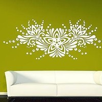 Wall Vinyl Sticker Decal Ornament Floral Pattern Flower Bud Drops Unique Gift (n306)