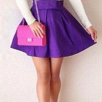Low-Cut V Neck Mini Dress With Bow