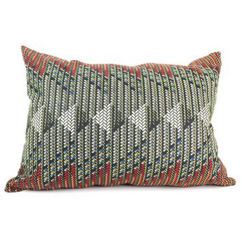 Pre-owned African Dutch Wax Arrow Pillow