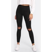 Knees Out Laced Leggings