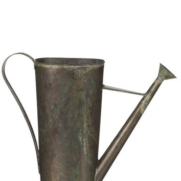 "Antique Metal Watering Can Flower Container13"" Tall x 15"" Wide x 4"" Depth"
