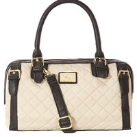 Black and cream quilted bowler - Purses & Wallets  - Accessories