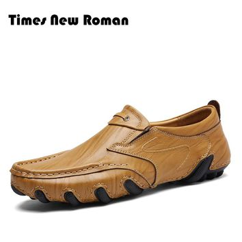 Causal Shoes Genuine Leather Cow Leather Slip On Men Shoes Outdoor Shoes Zapatos Hombre