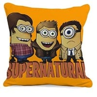 Minion Supernatural Movies Pillow Case (16 x 16 one side)
