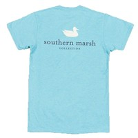 Authentic Tee in Washed Barbados Blue by Southern Marsh - FINAL SALE