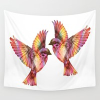 Sparrows Wall Tapestry by Inspired Images