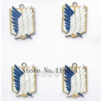 Cool Attack on Titan New 30 pcs Cartoon Japanese anime  Charms DIY Pendant Jewelry Making P--149 AT_90_11