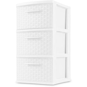 Sterilite 3-Drawer Weave Tower, White (Available in Case of 2 or Single Unit) - Walmart.com