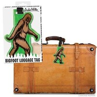 Accoutrements Bigfoot Luggage Tag Sasquatch Suitcase Vinyl ID Label Travel Gift