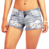 Tri Tear Cutoff Shorts