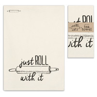 Farmhouse Style (set of 4) Just Roll With It Tea Towels