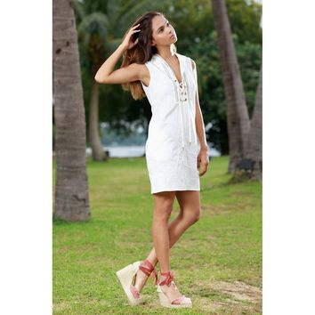 White Hooded Dress