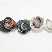 Colorful Paper Rose Garland | Rolled Rose Banner Made From Recycled Paper