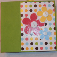 6x6 PreMade Floral Girl Chipboard Scrapbook Album/Photo Album