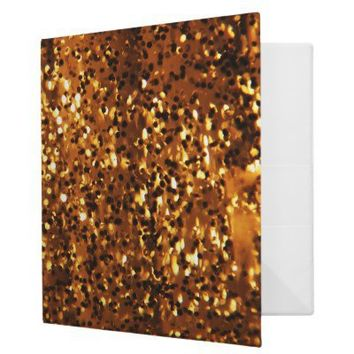 Gold Sparkle Binder from Zazzle.com