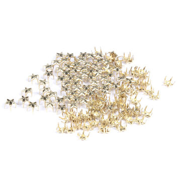 100PCS Five-pointed Star Metal Rivet 7mm Decorative Rock Spike Studs Gold SGG#