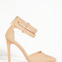 Hot in Here Nude Ankle Strap Heels- FINAL SALE