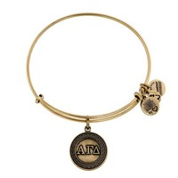 Alex and Ani Alpha Gamma Delta Charm Bangle - Russian Gold