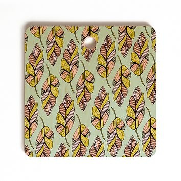 Allyson Johnson Native Feathers Cutting Board Square
