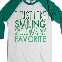 ELF Smiling's My Favorite-Unisex White/Evergreen T-Shirt