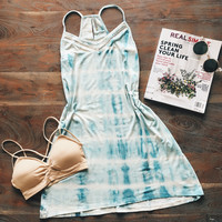 A Little Tie Dye Dress in Light Blue