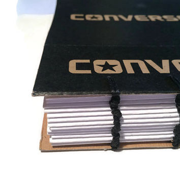 CONVERSE Shoe Box Coptic Stitched Journal Blank Notebook with Plain Pages
