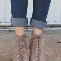 Top Notch Bootie - Taupe