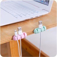 2 Pcs Data cable charging line Headphone Wire Wrap Cord Winder Storage rack Organizer Cable Collector Silica Home shelves 2017