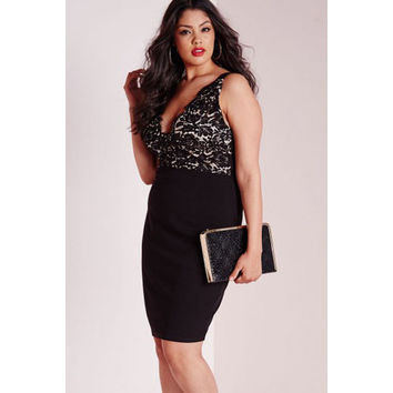 Plus Size Lace Midi Dress Sale LAVELIQ