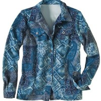 Paisley Print Button Front Jacket