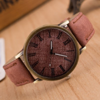 Retro Unisex Casual Brown Wristwatch High Quality Watch + Nice Gift Box