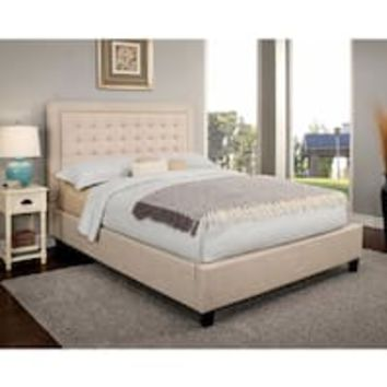 Hillsdale Furniture Nicole Beige Fabric Bed | Overstock.com Shopping - The Best Deals on Beds