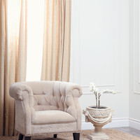 Carla Fabric Nailhead Trim Armchair