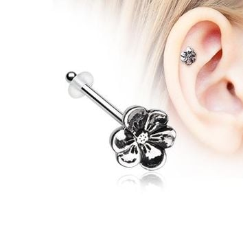 Anemone Flower Piercing Stud with O-Rings