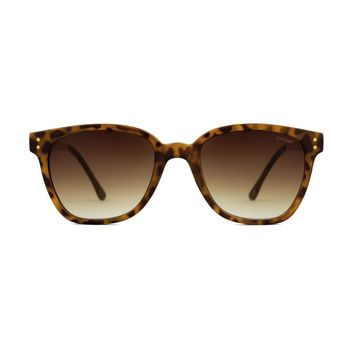 Komono - Renee Metal Series Tortoise Rose Gold Sunglasses / Polycarbonate Gradient Brown Lenses
