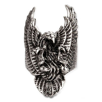 American Eagle Ring .925 Silver Jewelers for Men's Fashion & Fine Jewelry-Size 9