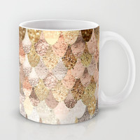 REALLY MERMAID GOLD Mug by Monika Strigel