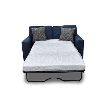 Acme 52294 Catherine blue fabric pull out sleeper love seat
