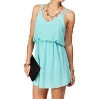 Mint Double Strap Chiffon Dress