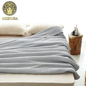 Medusa nippon style knitted cotton breathable throw blanket